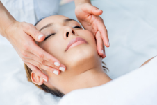 a lady receiving a chemical peel